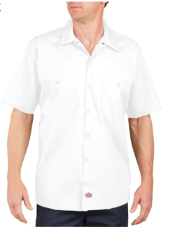Dickies Adult 4.25 Ounce Short Sleeve Industrial Poplin Work Shirt. (WAS STLYE LS535)